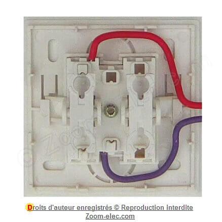Terre 2 A 250 V un de câble 3 broches Düwi entre Interrupteur ficelle Interrupteur Marron