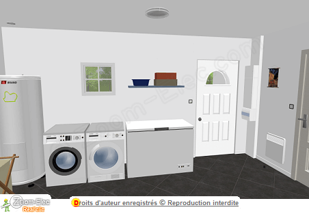 installation lectrique chauffe eau ballon d 39 eau chaude s che linge lave linge et cong lateur. Black Bedroom Furniture Sets. Home Design Ideas