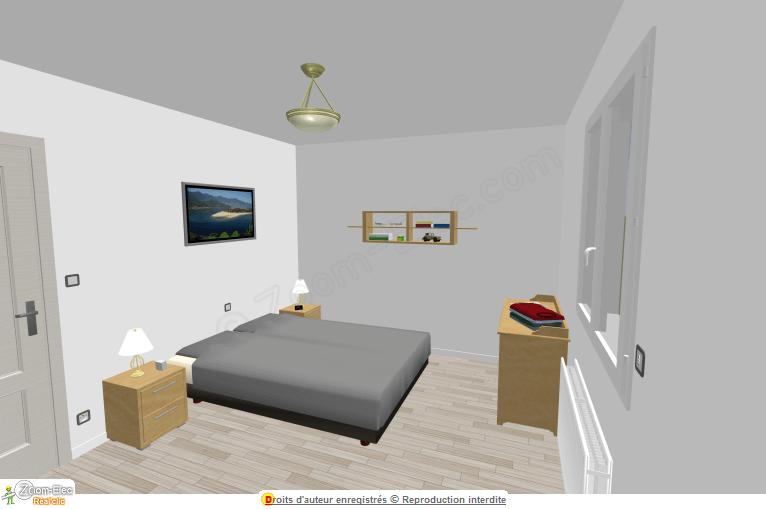 installation lectrique chambre l lectricit dans une chambre sch ma et plan des circuits. Black Bedroom Furniture Sets. Home Design Ideas