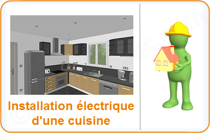 installation lectrique cuisine l lectricit dans la cuisine sch ma et plan des circuits. Black Bedroom Furniture Sets. Home Design Ideas