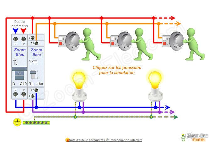 Schma tlrupteur schma lectrique interactif dun tlrupteur for Cablage vas et viens