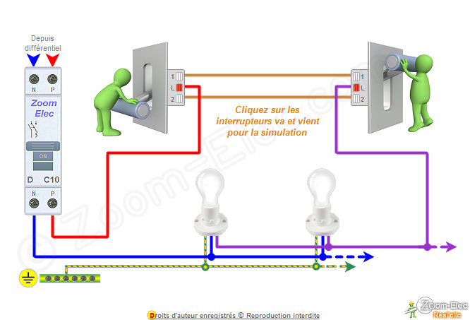 Simple schema electrique va et vient with plan electricite for Simulation plan maison