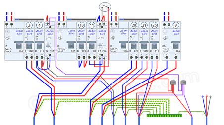 Tableau Electrique, Circuits électriques De La Buanderie Lingerie