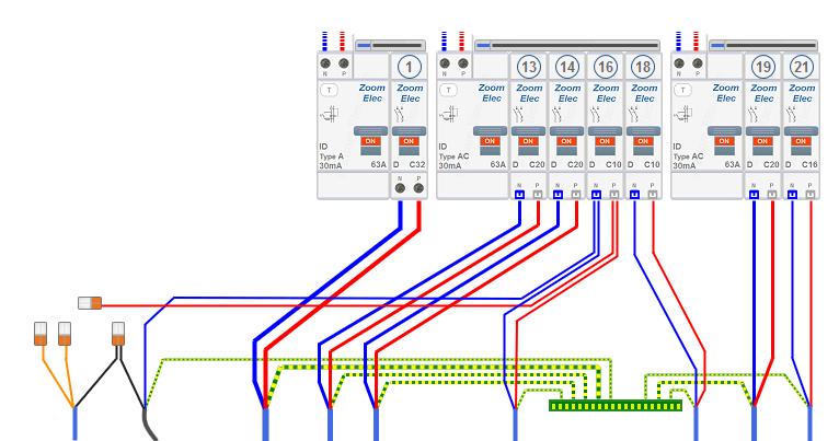 Tableau Electrique, Circuits électriques De La Cuisine